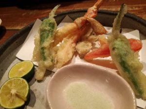畑舎コース ずわいがにと季節野菜の天ぷら