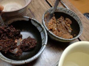 手作り味噌食べ比べ