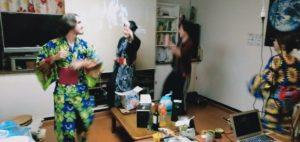 Bon-dance in the living room