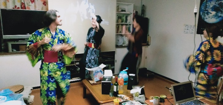 Bon-dance in the living room