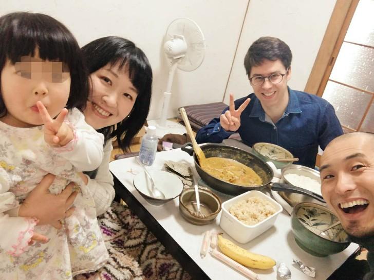 英語漬けシェアハウス合宿第1回(カレーご飯)