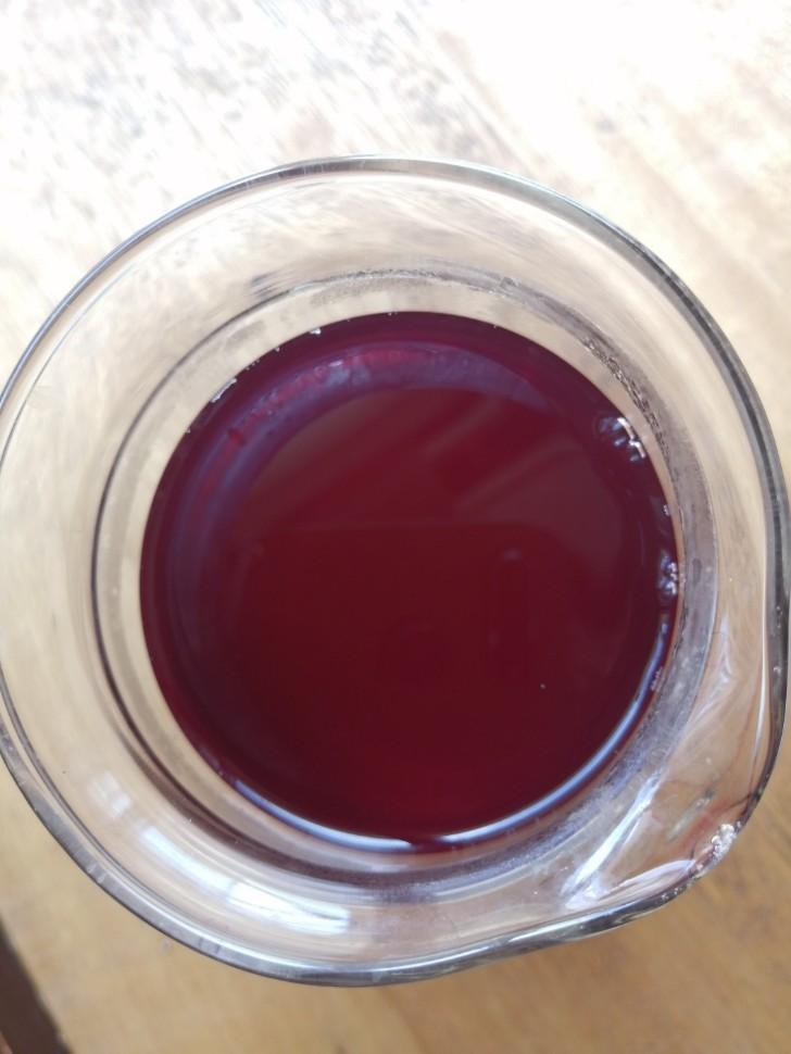 赤紫蘇ジュース完成!